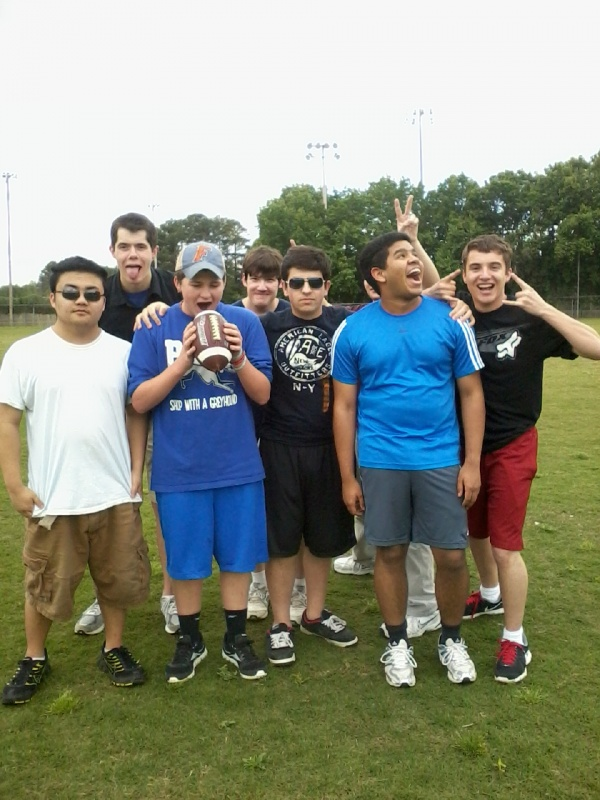 Flag Football Silly Group Picture